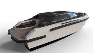 cabin-cruiser entrobordo / hard-top / tender per super-yacht / con prendisole
