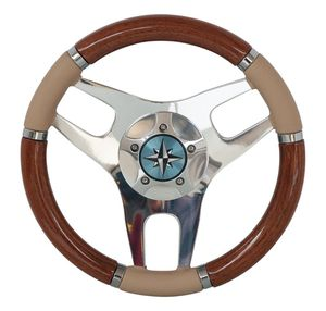 volante per barca a motore in legno