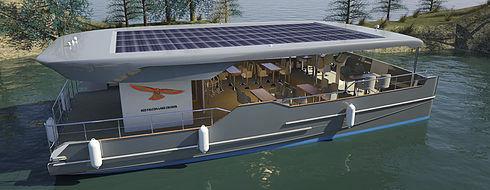 barca professionale barca per trasporto passeggeri / catamarano / elettrosolare