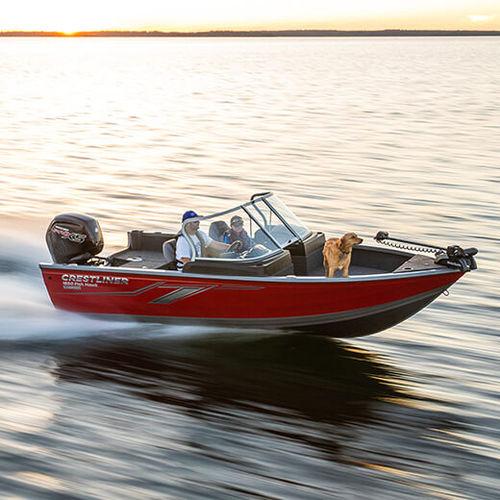 bay boat fuoribordo / con dual console / con console laterale / da pesca sportiva