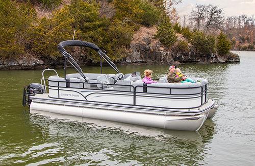 pontoon boat fuoribordo / tri-tube / da sci nautico / in alluminio
