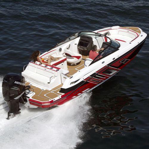 deck boat fuoribordo / con dual console / da wakeboard / da sci nautico