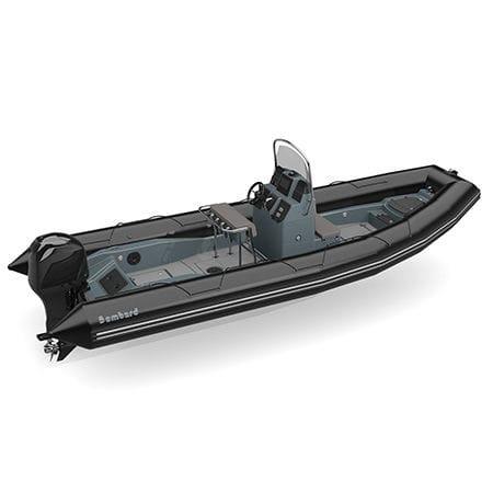 gommone fuoribordo / semirigido / con console centrale / per la pesca
