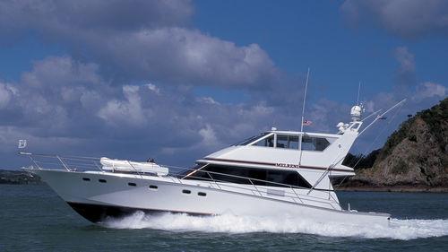 motor-yacht da pesca sportiva / con fly chiuso / con scafo planante