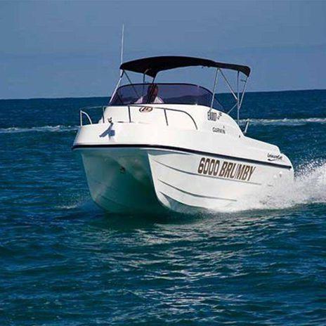 day cruiser catamarano / fuoribordo / con scafo planante / open