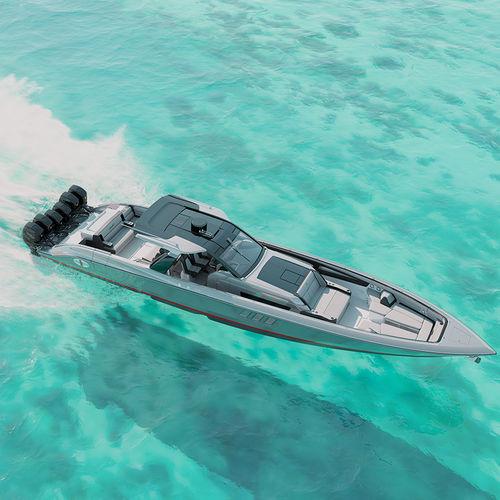 barca open fuoribordo / con console centrale / open / sportiva
