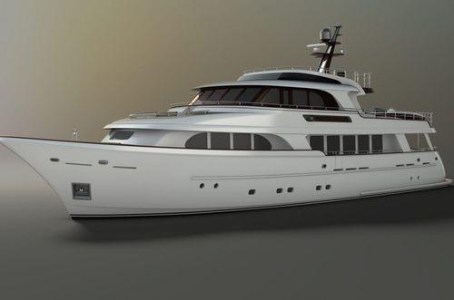 super-yacht da crociera / per spedizione / explorer / raised pilothouse