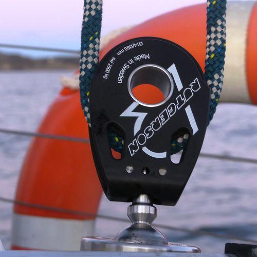 bozzello con cuscinetto a rulli / singolo / con piastra girevole / per barca a vela