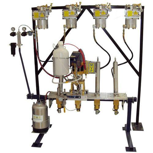 macchina a spruzzo gelcoat / multicomponente / per cantiere navale