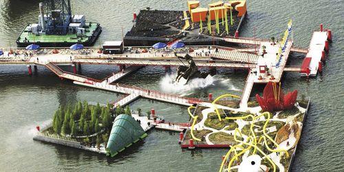 struttura galleggiante per eventi