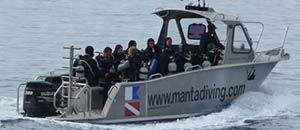 barca di supporto per immersioni / entrobordo