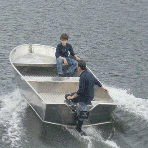 lancia fuoribordo / open / da pesca sportiva / in alluminio