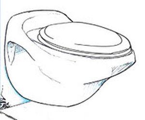 WC marino / con aspirazione per il vuoto / sospeso / in ceramica
