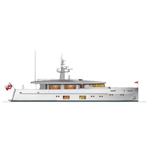 super-yacht da crociera / trawler / con cabina di pilotaggio / in alluminio