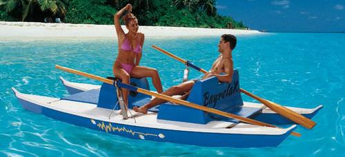 catamarano a remi