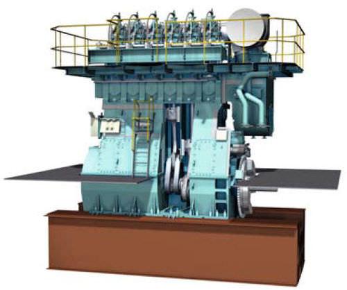 motore per nave lento
