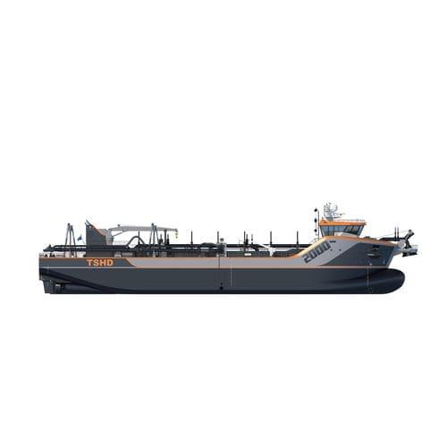 nave speciale draga aspirante refluente a tramogge