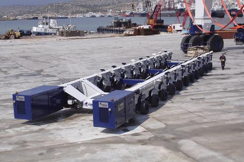 rimorchio di movimentazione pesante / per cantiere navale / semovente / controllato a distanza