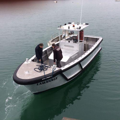 barca professionale pilotina / barca di assistenza all'attracco / entrobordo