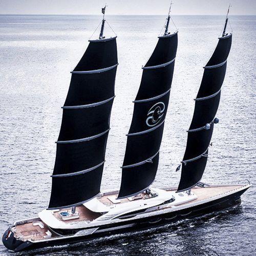 sailing-superyacht di lusso da crociera / con fly / 3 alberi