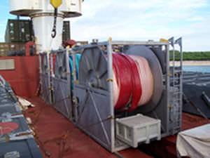 avvolgitore di tubo per nave