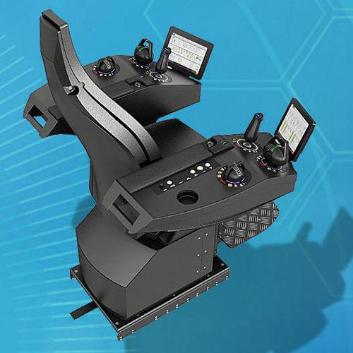 sedile operatore / per nave / con schienale alto / con braccioli