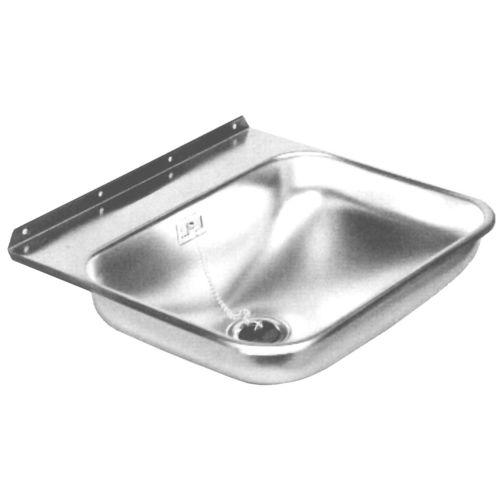 lavello quadrato / in acciaio inox / per barca