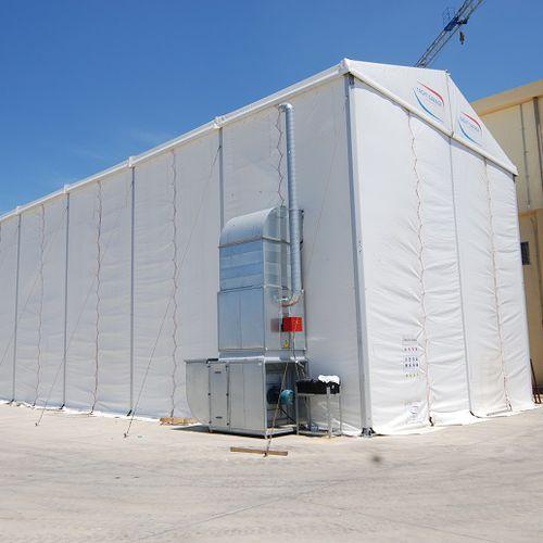 cabina di sabbiatura per cantiere navale - Yachtgarage