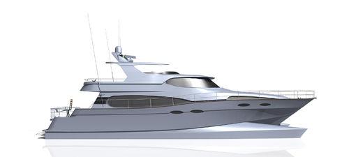 motor-yacht catamarano / da pesca sportiva / con fly / in composito