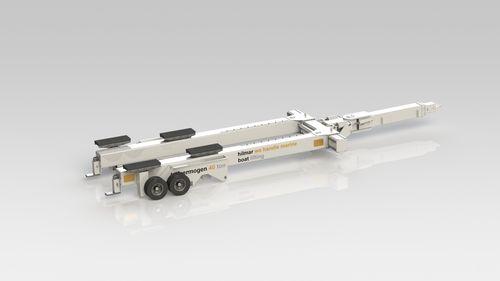 carrello per varo / per movimentazione / per cantiere navale / idraulico