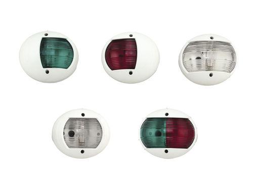 luce di navigazione per barca / a incandescenza / tricolore / a montaggio verticale