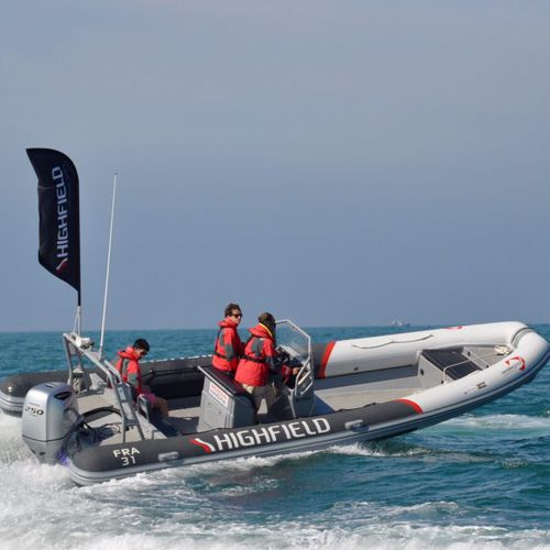 barca professionale patrol boat / fuoribordo / in alluminio / gommone semirigido
