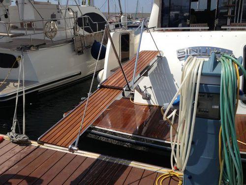 passerella per yacht / telescopica / con corrimano / in acciaio inox