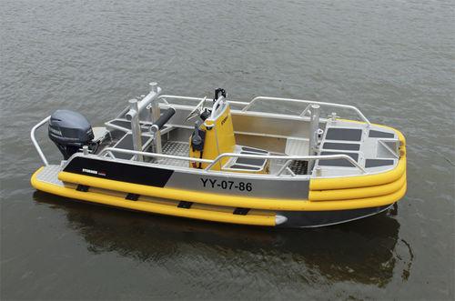 barca professionale barca da lavoro / fuoribordo / in alluminio