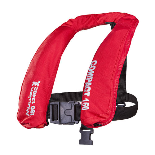 giubbotto di salvataggio autogonfiabile / 150 N / con imbracatura di sicurezza / ad uso professionale