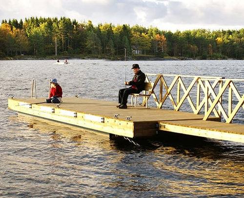 pontile galleggiante / imbarcadero / per marina / in legno