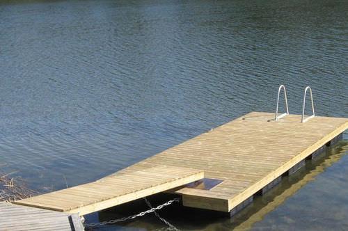 passerella per pontile / in legno