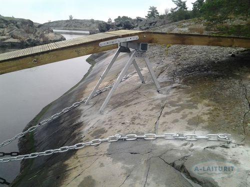 fissaggio per pontile galleggiante