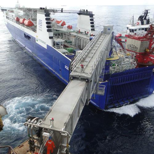 passerella per nave di supporto offshore / telescopica / flottante / in alluminio