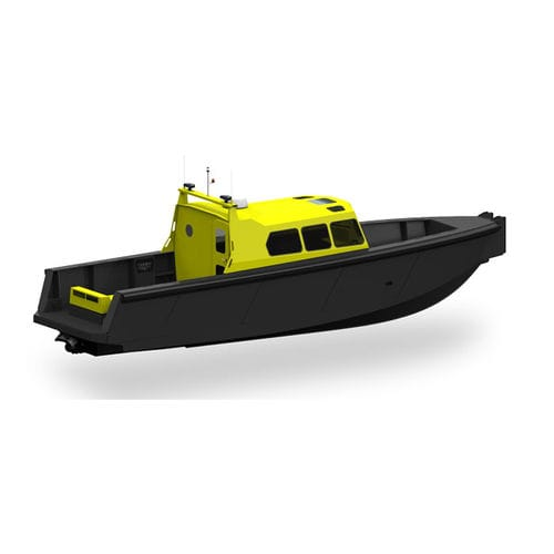 barca professionale barca per trasporto equipaggio / pilotina / entrobordo a idrogetto / diesel