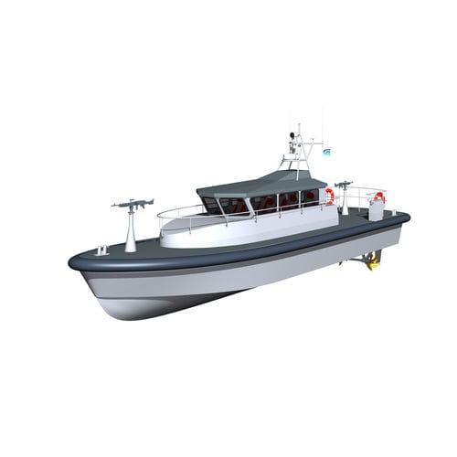 barca professionale patrol boat / pilotina / entrobordo a idrogetto