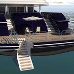 scaletta per yacht / fissa / da bagno / di poppa