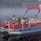 pontoon boat fuoribordo / elettrico / da pesca sportiva / max. 7 persone