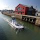 barca professionale chiatta di recupero rifiuti / spazzamare / entrobordo / in alluminio