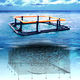 gabbia per pesci per acquacoltura / in plastica / quadrata / flottante