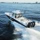 barca open fuoribordo / trimotore / con console centrale / con fly