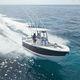 barca open fuoribordo / bimotore / con console centrale / da pesca sportiva