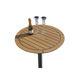 tavolo per pozzetto per yacht / fisso / in teak
