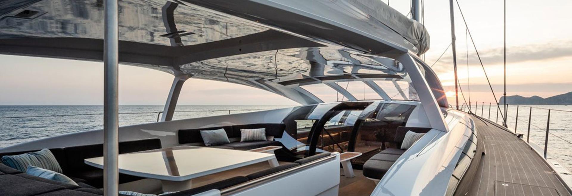 All'interno del Baltico 112 Custom Sailing Yacht a vela Liara