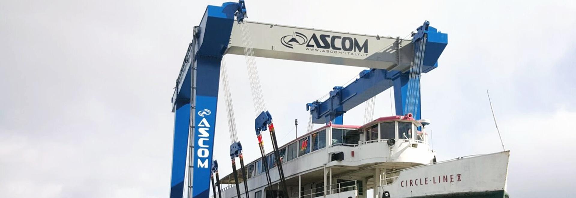 Ascom 460 ton Boat-Hoist